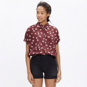 Madewell Courier Shirt in Palm Tree